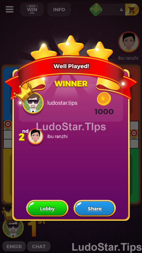 Ludo star tricks