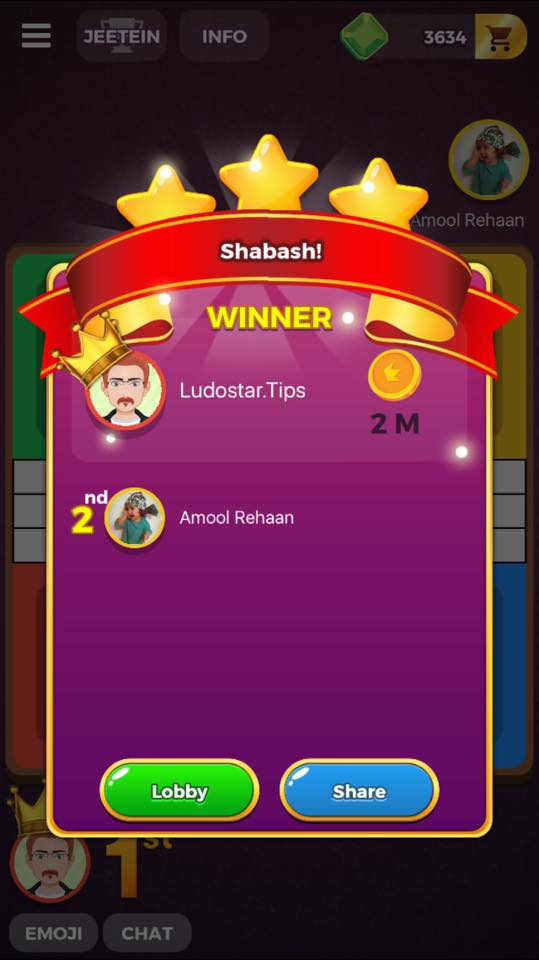 ludo star quick match win