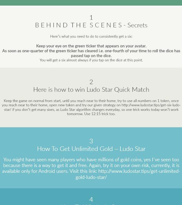 Ludo Star Cheats 2018 (Infographic)